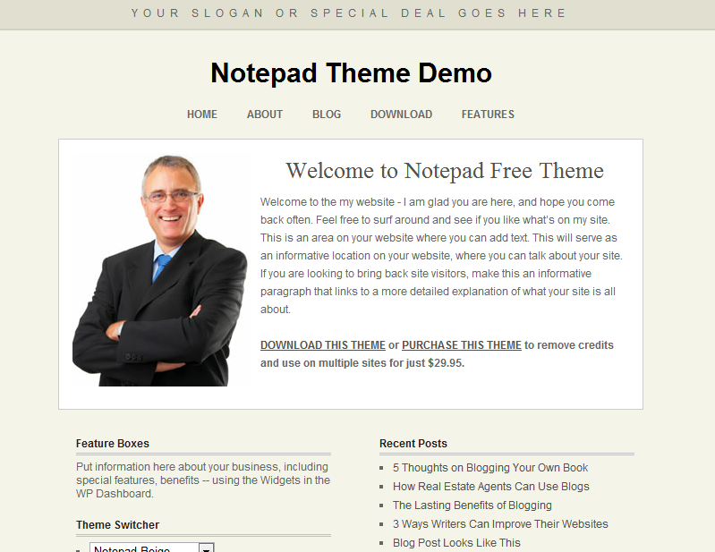 business wordpress templates